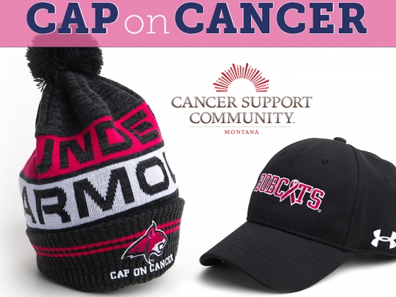 """1edb327d66c Montana State University and Bobcat Athletics are sponsoring the fifth  annual """"Cap on Cancer"""" promotion to coincide with breast cancer awareness  month."""