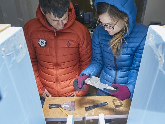 At MSU's unique cold lab, researchers study effects of dust on melting snow