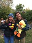 Andrea and Ben at the annual Ecology Rubber Ducky race - 2015