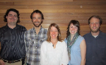 Adam Mitchell, Ross Hinderer, Andrea, Erin Kenison, and Dan Bachen at the Montana TWS meeting 2013