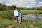 Ross Hinderer and Andrea at the Ladder Ranch, NM - summer 2014