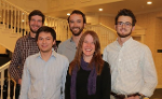 Litt lab at the Montana TWS meeting 2015 - Adam Starecheski, Ben Turnock. Ross Hinderer, Andrea. and Noah Bosworth