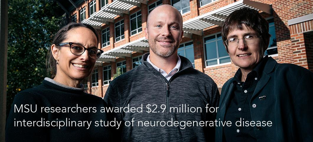 MSU researchers awarded $2.9 million for interdisciplinary study of neurodegenerative disease