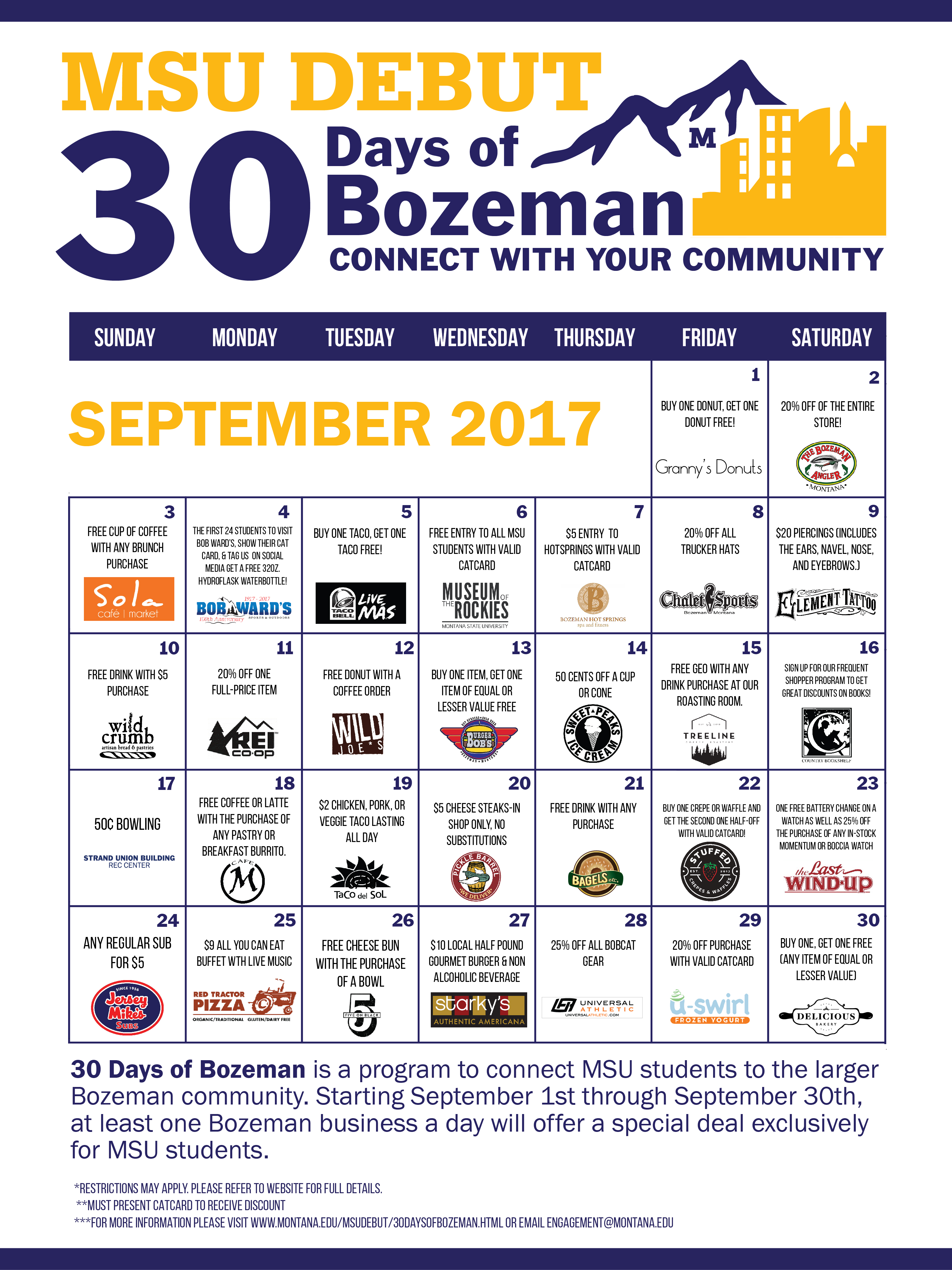 Different local deals, every day, all September long!
