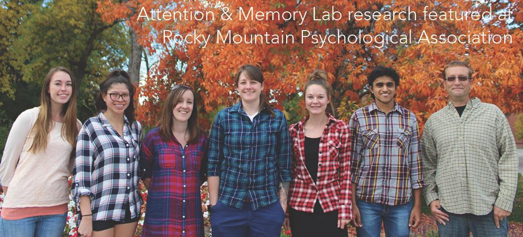 Attention & Memory Lab research featured at Rocky Mountain Psychological Associationd
