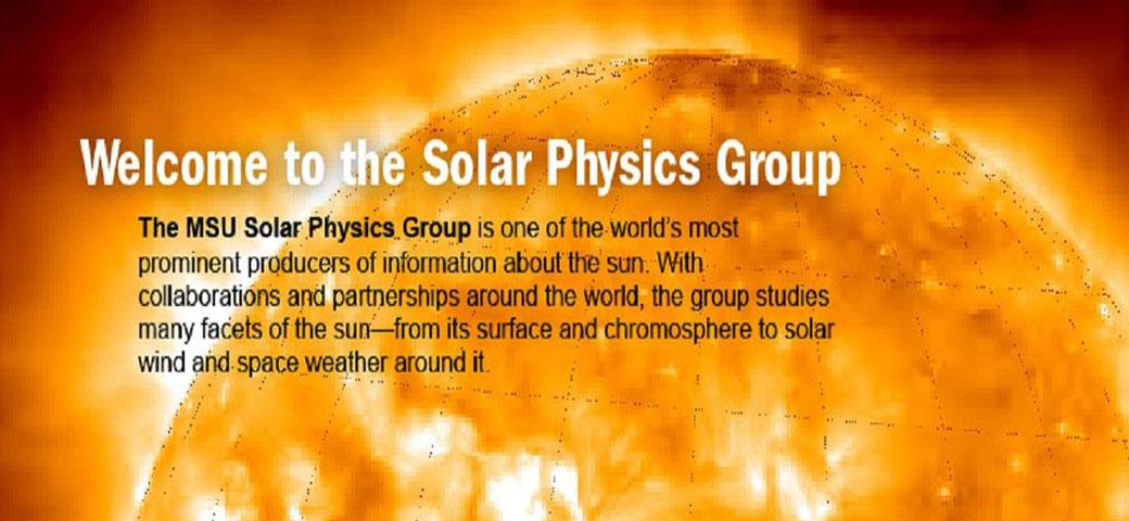 welcome to the solar physics group