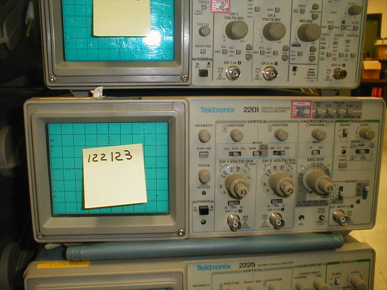 Front view of Tektronix 2201 oscilloscope