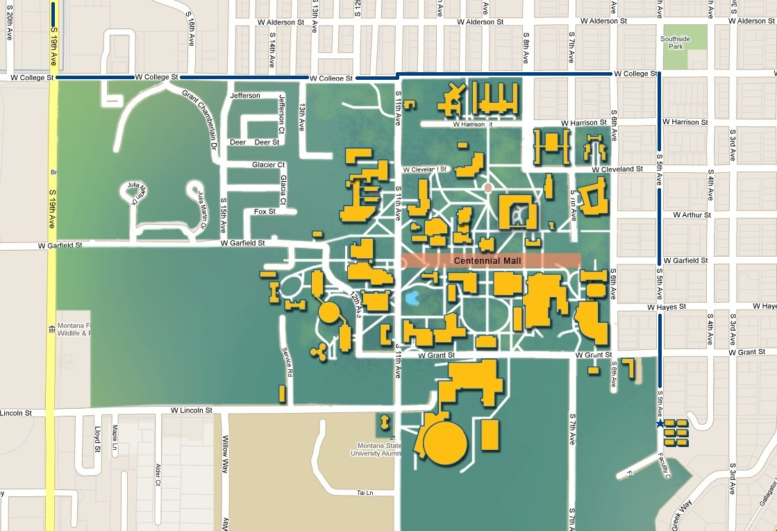 University Of Montana Map Submited Images