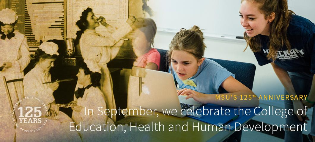 In September, we celebrate the College of Education, Health and Human Development