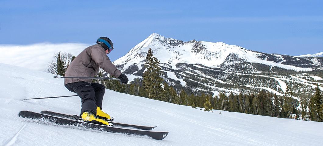 A skier at Big Sky