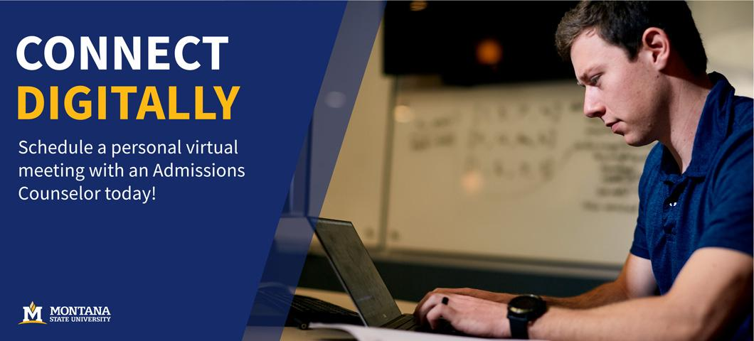 Connect digitally. Schedule a personal meeting with an Admissions Counselor today!