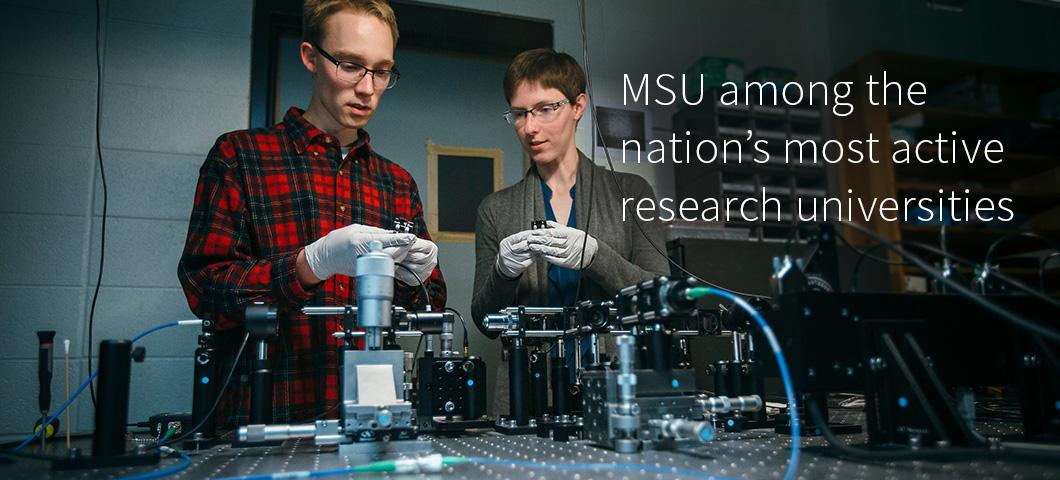 MSU receives 'very high research activity' designation in Carnegie classification