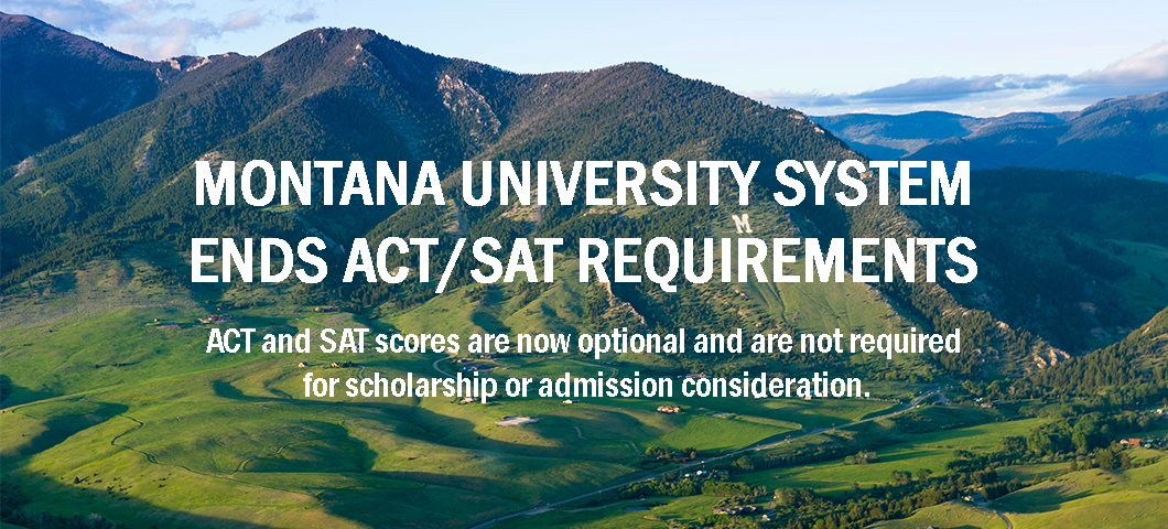 ACT and SAT scores are no longer required for scholarship or admissions purposes.