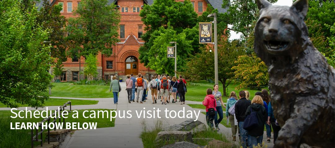 Schedule a campus visit today. Learn how below.
