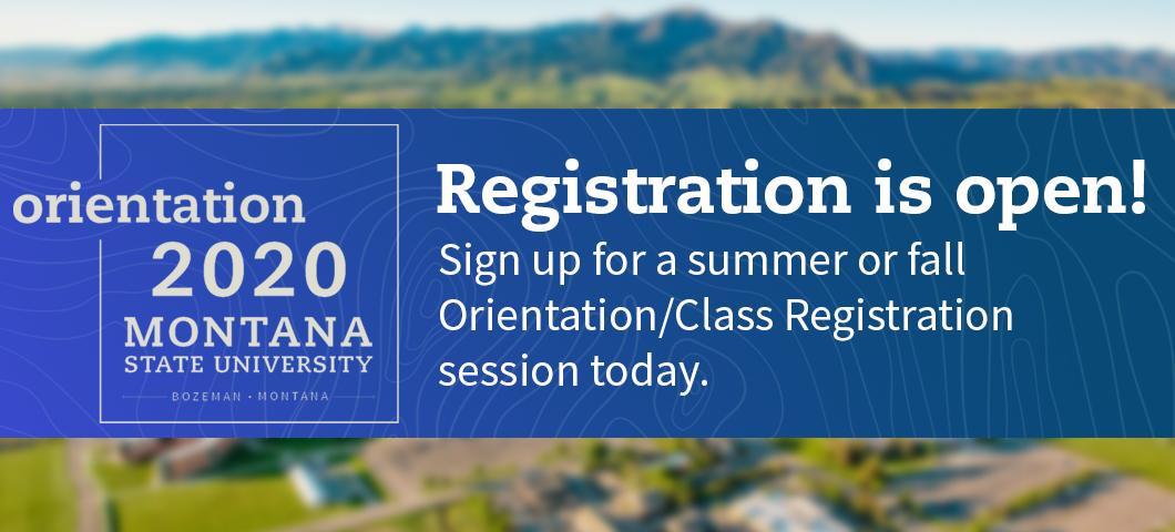 Registration is open! Sign up for a summer or fall Orientation/Class Registration session today.