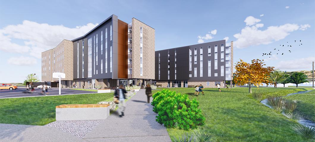 Hyalite Hall, MSU's newest residence hall, set to open Fall 2020.