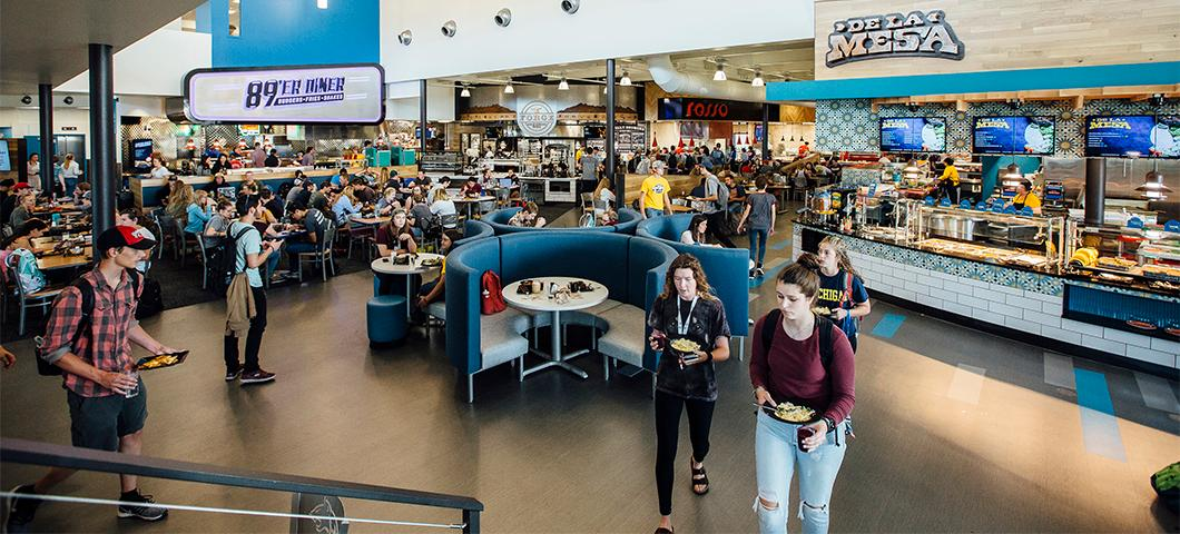 Rendezvous Dining Pavilion ranked best large college dining hall in nation.