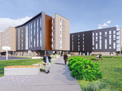 Rendering of Hyalite Hall.