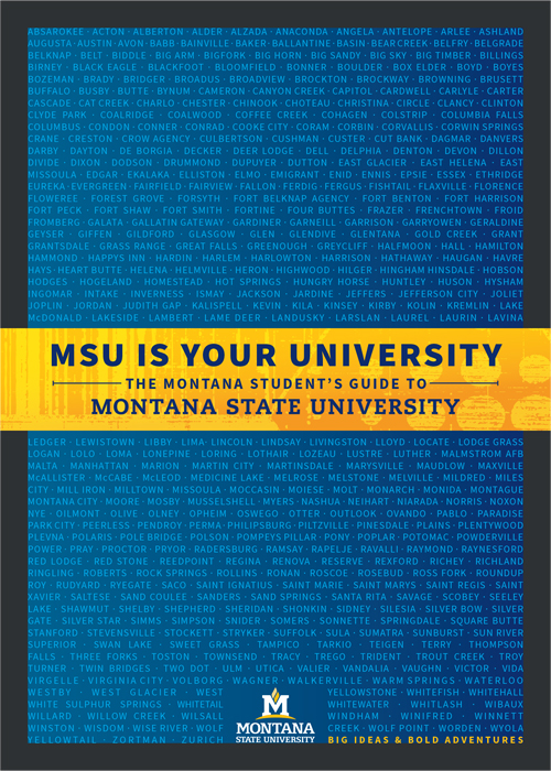 MSU is Your University: The Montana Student's Guide to Montana State University