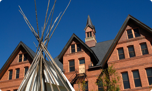 Tee-pee in front of Montana Hall