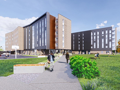 New residence hall concept art