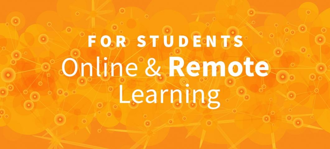 Information for students on remote learning