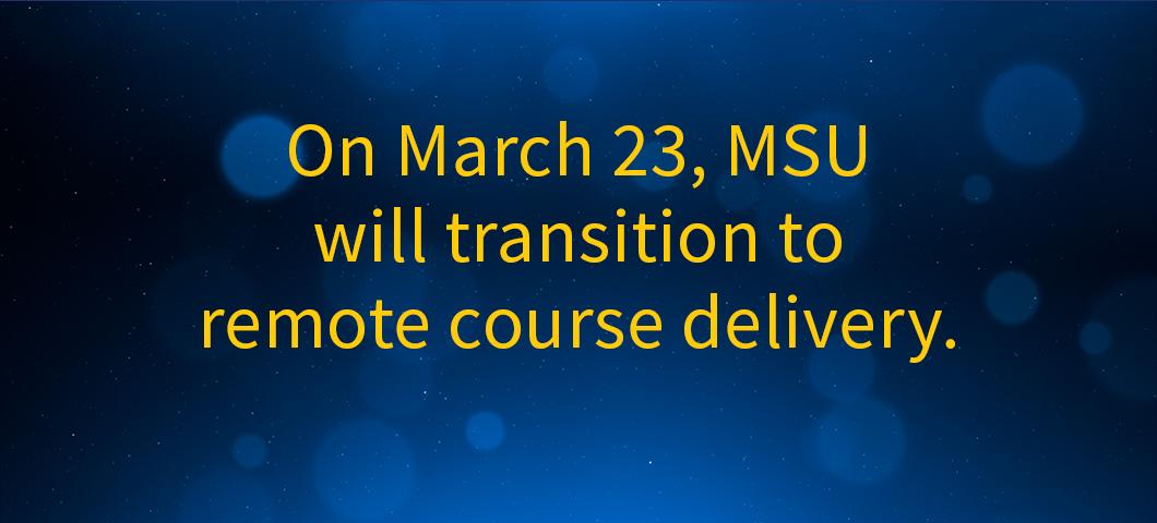 Information on remote course deliver