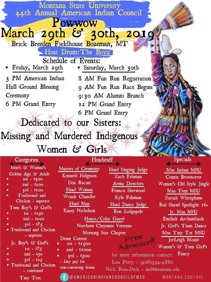 AIC 44th Annual Powwow Poster