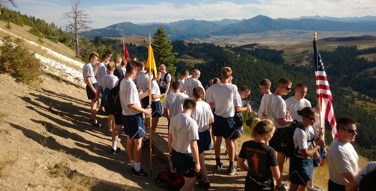 Cadets Hike the M in Bozeman