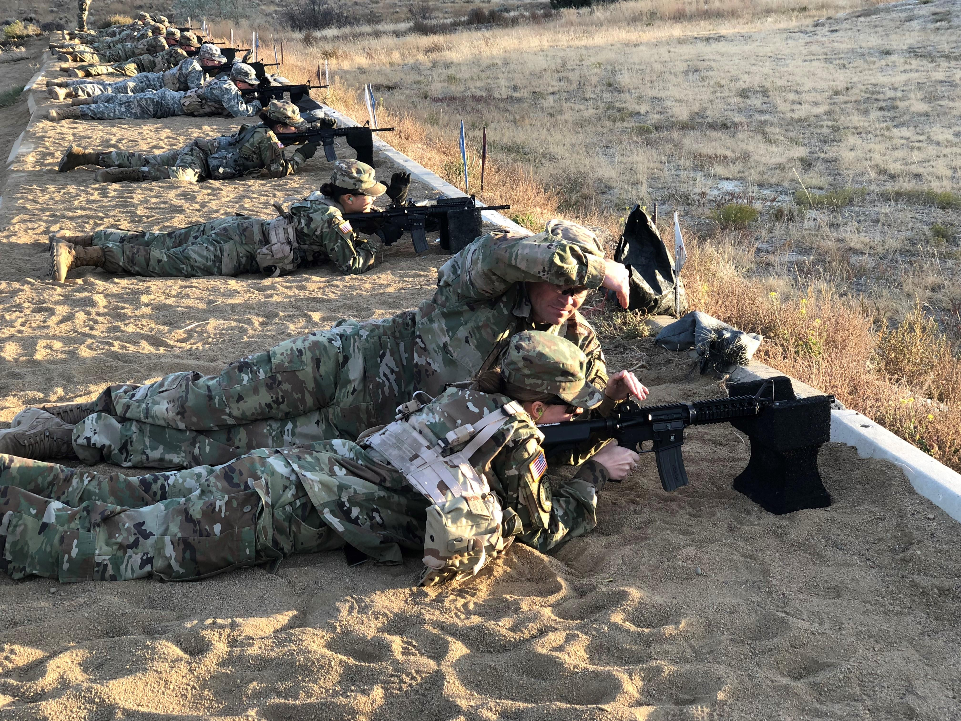 rotc rangchall target practice