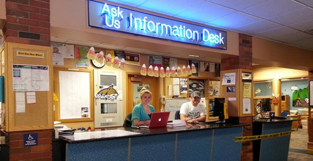 Ask Us Information Desk banner image.