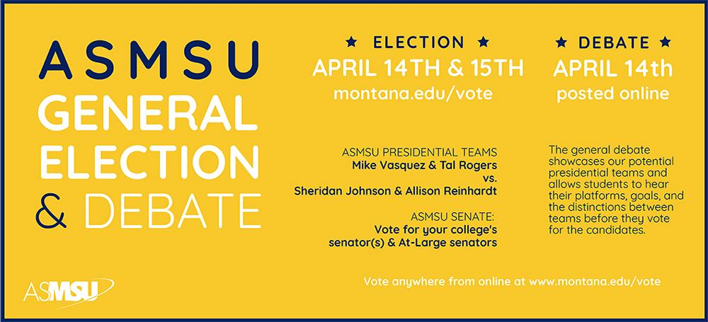 Vote in the general election April 14 & 15! Debate will be posted online on April 14.