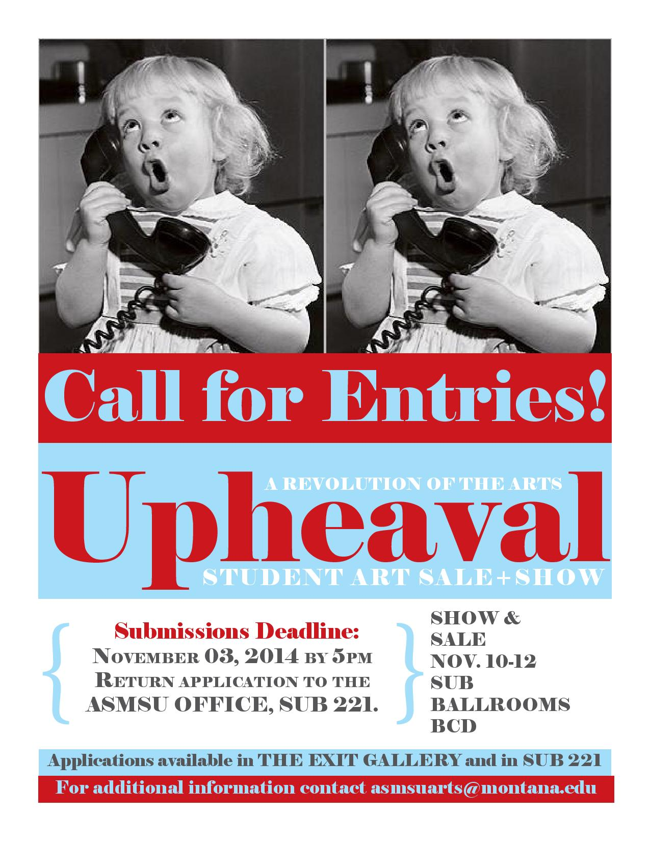 upheaval call for entries