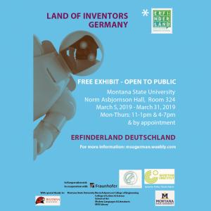 Land of Inventors Invitation; NAH 324; March 5; 4-6pm