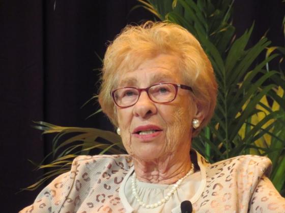 Portrait of Eva Schloss.  