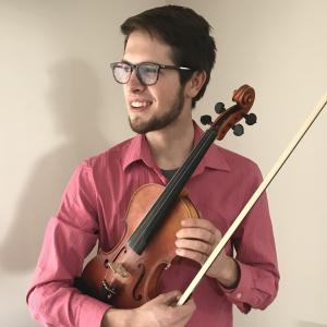 John Schlender with his Violin
