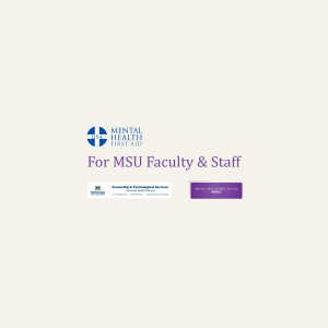 MHFA for Faculty Staff