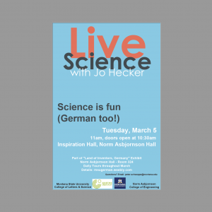 Live Science Show Mar 5 - Inspiration Hall 11am
