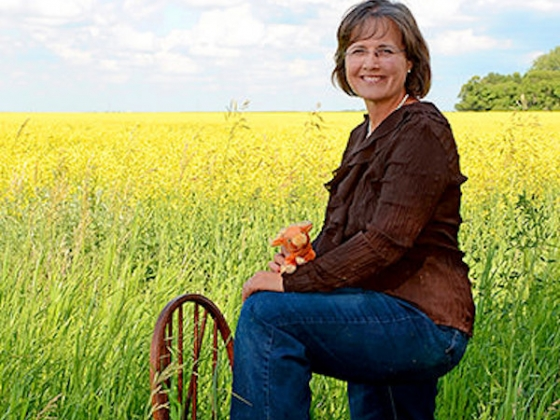 Elaine Froese, a family farmer from Manitoba, Canada.  