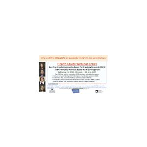 Health Equity Webinar Series