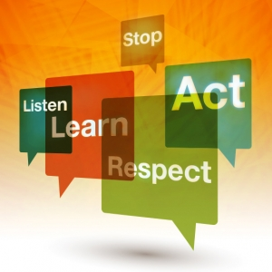 Stop, Listen, Learn, Respect, Act