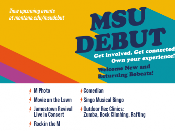 MSU Debut. Get involved. Get connected. Own your experience. |