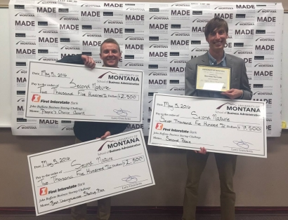 MSU Seniors Stein and Carlstrom win awards at Ruffatto Start-up competition