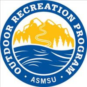 The Outdoor Recreation Program logo with mountain and river graphics.