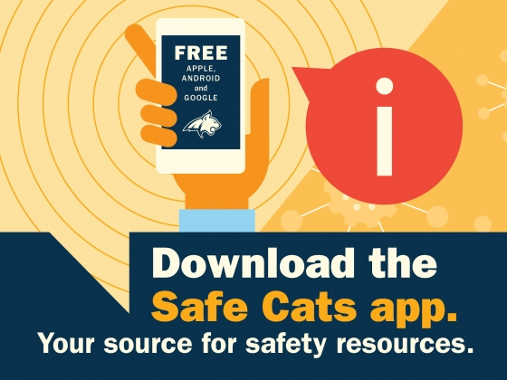 Download the Safe Cats app. Your source for safety resources. We're all in this together. | MSU