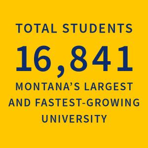 Total Students 16,841 Montana's Largest University |