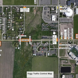 Kagy Blvd. road closure