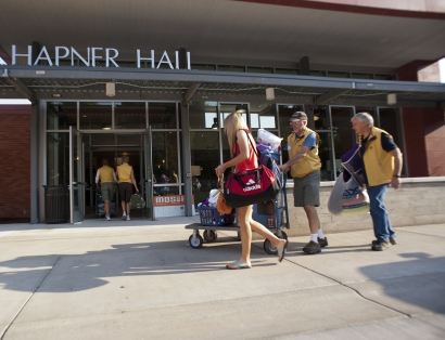 Volunteers assist incoming Montana State University students during the annual Move-In Day.  | MSU photo by Kelly Gorham
