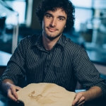 Jacob Gardner, a graduate student in MSU's Department of Earth Sciences, has received a National Science Foundation fellowship to research the evolution of dinosaur locomotion and paleogenomics in Beijing, China this summer. MSU Photo by Adrian Sanchez-Gonzalez