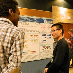 LRES Students present posters at research colloquium